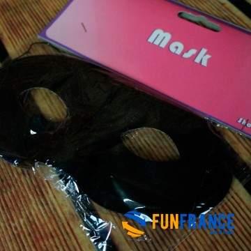 FUNFRANCE - E-Commerce Français : Masque loup carnaval noir - 0.625€/ht - Masque loupnoir classic avec élastique tour de tête.