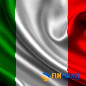 FUNFRANCE - E-Commerce Français : Drapeau Italie 90*150cm - 2.4€/ht - Drapeau en tissu ITALIE Dimension 90x 15 cm