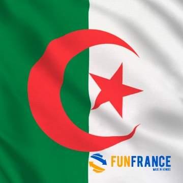 FUNFRANCE - E-Commerce Français : Drapeau Algérie 90*150cm - 2.4€/ht - Drapeau en tissuAlgérie Dimension 90x 15 cm
