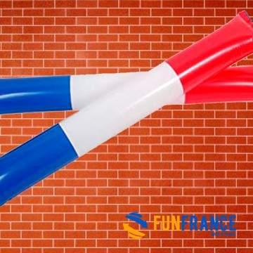 FUNFRANCE - E-Commerce Français : 2 x Air Bang France (Bleu Blanc Rouge) - 0.625€/ht - Paire d'air bang gonflables aux couleurs