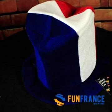 FUNFRANCE - E-Commerce Français : Bonnet haut de forme FRANCE - 5.625€/ht - Chapeau haut de forme en mousse légère au couleurs d