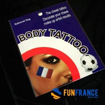 Tatouage drapeau France (Bleu Blanc Rouge)