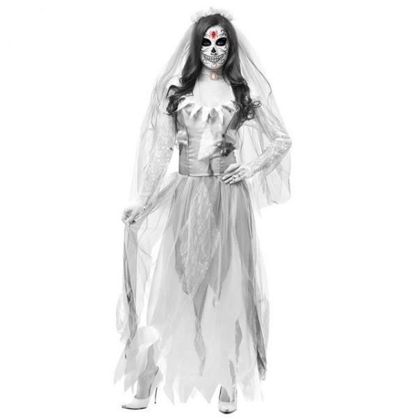 FUNFRANCE - E-Commerce Français : Déguisement fantôme cadavre Zombie robe de mariée - 18.87€/ht - Déguisement Femmes fantôme. Ex