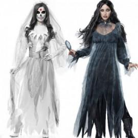 Déguisement fantôme cadavre Zombie robe de mariée