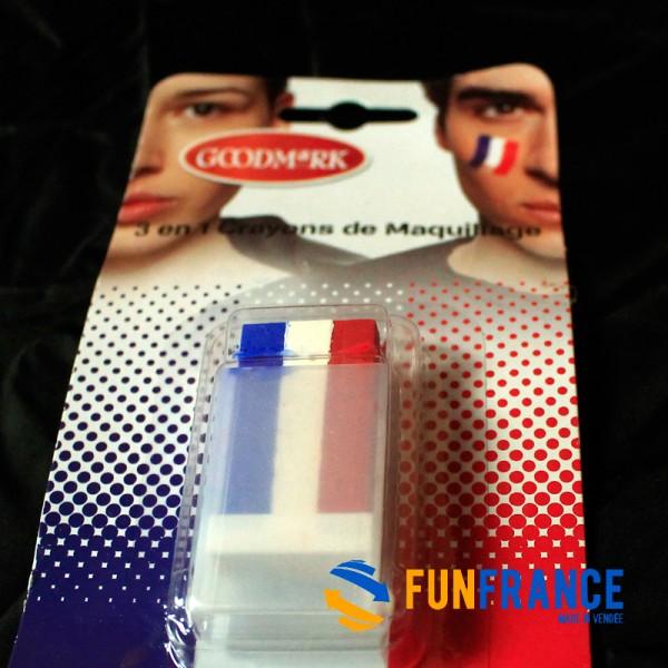 Maquillage GOODMARK stick équipe de France Bleu Blanc Rouge