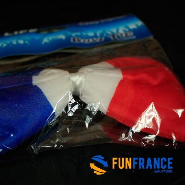 FUNFRANCE - E-Commerce Français : Noeud papillon FRANCE 18cm - 1.98€/ht - Noeud papillon FRANCE, avec tour de cou élastique. Mat