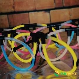 2 paires de lunettes FLUO (Couleur au choix)