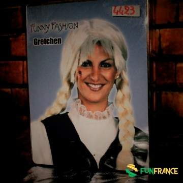 """FUNFRANCE - E-Commerce Français : Perruque blonde long """"Gretchen"""" - 9.916667€/ht - Perruque blonde , cheveux longs tressé """"Gretc"""
