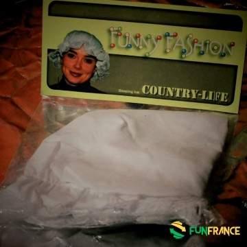 FUNFRANCE - E-Commerce Français : Bonnet de nuit blanc - 2.666667€/ht - Il est temps d'aller se coucher. Parez vous de votre bon
