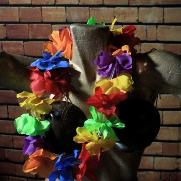 Collier fleur (11cm) Hawaïen Multicolore