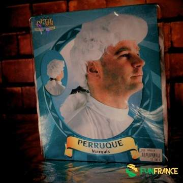 Perruque Marquis blanche