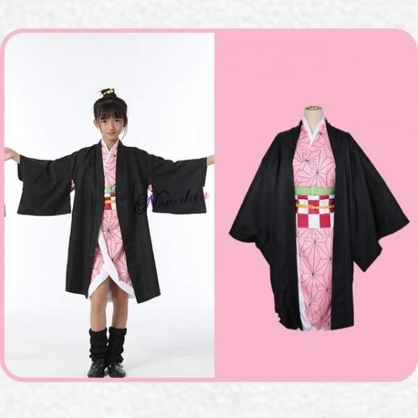 FUNFRANCE - E-Commerce Français : Costume de Cosplay Kimetsu no Yaiba Tanjirou Kamado Nezuko Zenitsu Shinobu, tueur de démons po