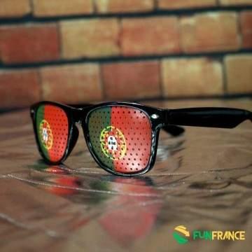 FUNFRANCE - E-Commerce Français : Lunettes supporter PORTUGAL - 1.8€/ht - Ces lunettes humoristiques en plastique possèdent une