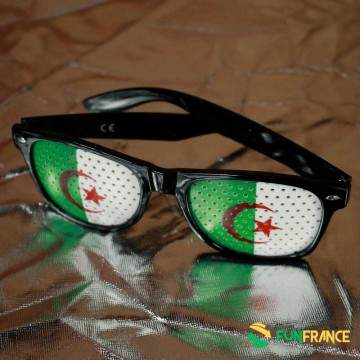 FUNFRANCE - E-Commerce Français : Lunettes supporter ALGÉRIE - 1.8€/ht - Ces lunettes humoristiques en plastique possèdent une m