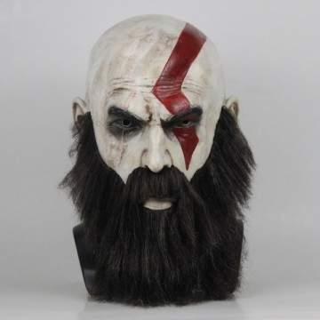 FUNFRANCE - E-Commerce Français : Masque Game God Of War 4 Latex - 17.72€/ht - Masque Game God Of War 4 Latex avec barbe. Taille