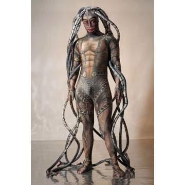 FUNFRANCE - E-Commerce Français : Combinaison imprimée Alien homme méduse siamois - 72.29€/ht - Superbe combinaison Alien imprim