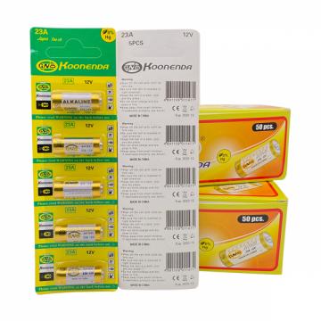 FUNFRANCE - E-Commerce Français : Piles alcaline 23A 12V Lot de 5 pièces A23 GP23A RV08 LRV08 E23A V23GA - 3.51€/ht - Lot de 5 p