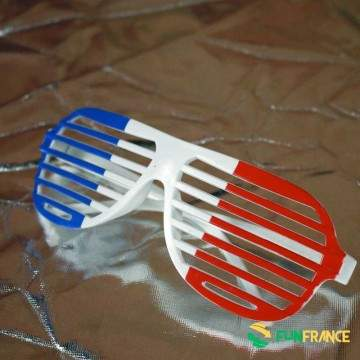 FUNFRANCE - E-Commerce Français : Lunettes supporter FRANCE grille - 2.049999€/ht - Ces lunettes humoristiques en plastique poss